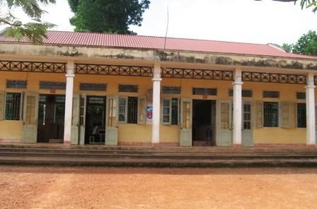 Điểm trường chính của Trường Tiểu học xã Cán Khê (huyện Như Thanh, Thanh Hóa).